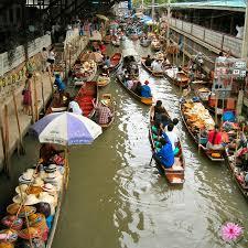 Thaiföld - úszó piac