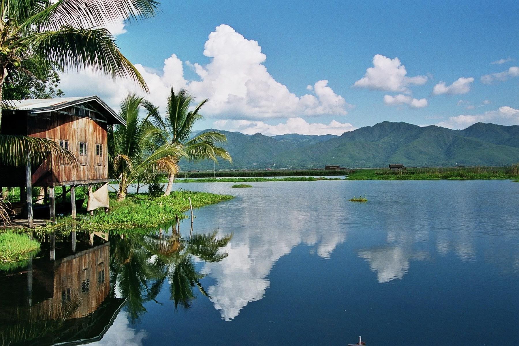 Burma körutazás - Inle tó látkép