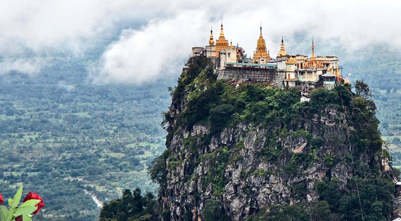 Burmai körutazás - Popa hegy