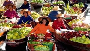 Vietnam úszó piac