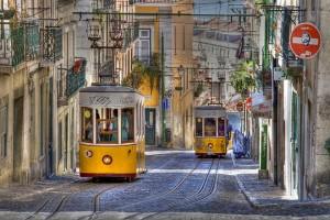 lisszabon utazás - villamos