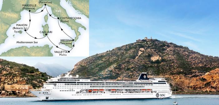 Földközi-tengeri hajóút, MSC Armoria térkép
