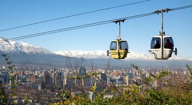 Chile - Peru körutazás: Santiago de Chile libegő