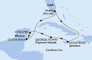 Karibi hajóút: Miami, Jamaica, Kajmán-szigetek, Mexikó