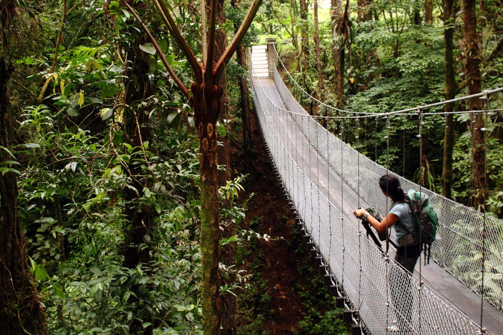 Costa Rica, Arenal függőhíd: Közép-Amerikai körutazás